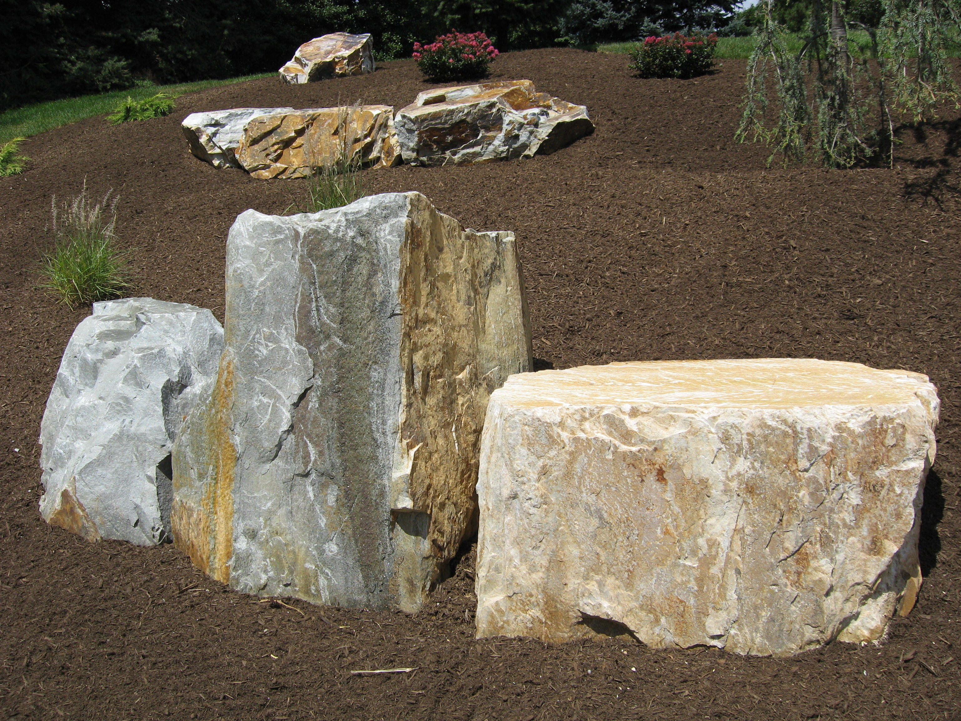Structured hardscape construction for Landscaping rocks by the ton