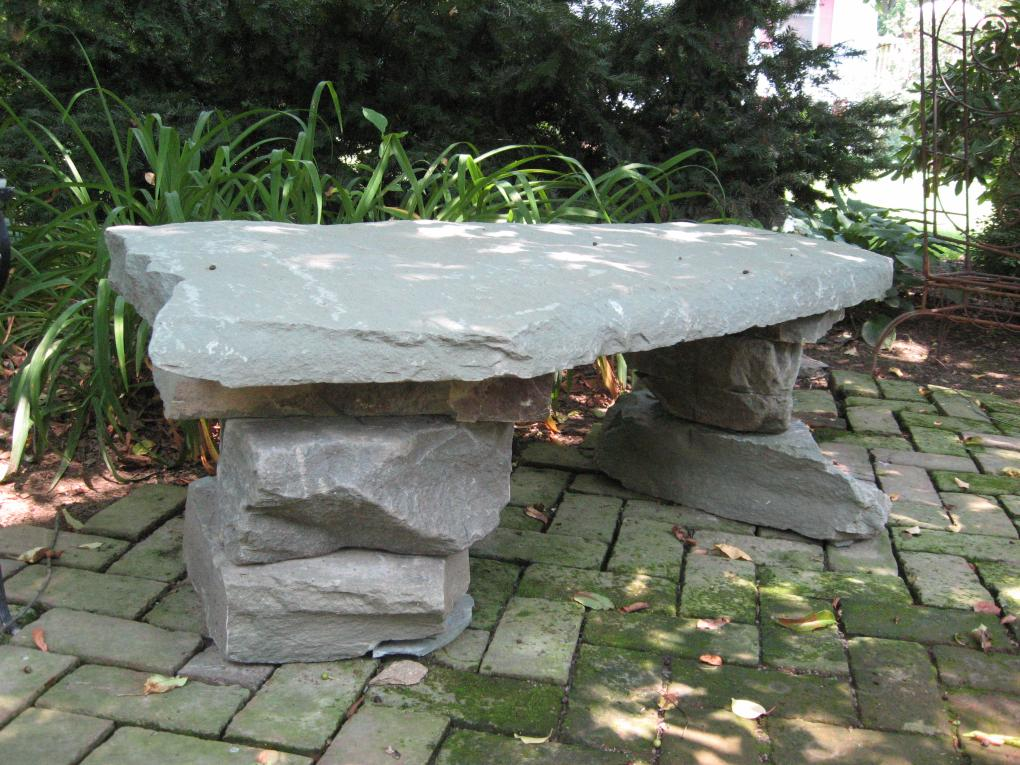 Stone Bench Water Gardens Ponds Pinterest