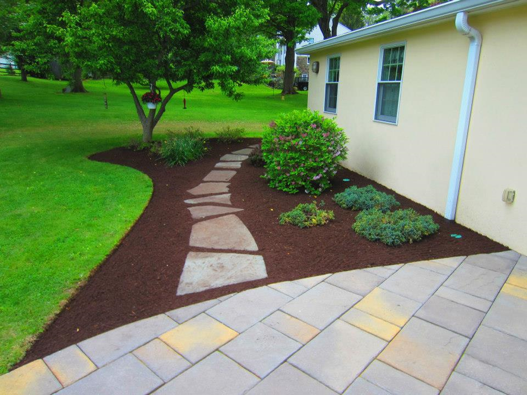 flowing custom walkways
